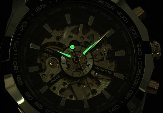 наручные часы скелетоны подсветка